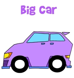 Collection of big car art vector