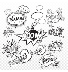 Comic boom set vector image