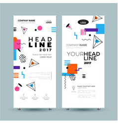 corporate banner - template vector image vector image