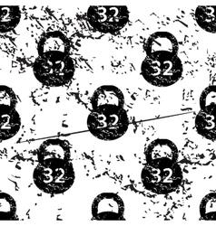 Dumbbell pattern grunge monochrome vector
