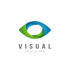 Eye Logo abstract colorful design template vector image vector image