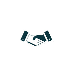 Handshake icon simple vector