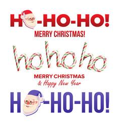 ho-ho-ho sign set merry christmas happy vector image