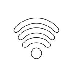 Icon flat design internet wi fi symbol vector