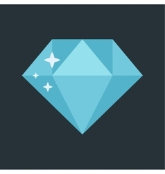 Jewelry diamond stone vector