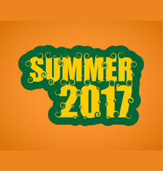 Lettering with word summer vector