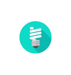 light bulb icon flat cartoon vector image