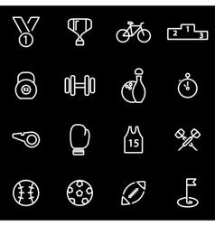 Line sport icon set vector