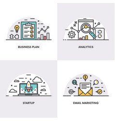 linear design concepts and icons for vector image vector image
