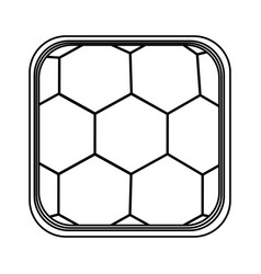 monochrome rounded square with background of vector image