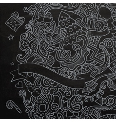New year sketch chalkboard vector