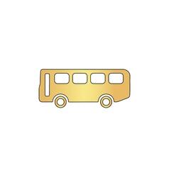 Old Bus computer symbol vector image