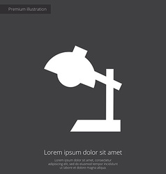 Reading-lamp premium icon white on dark background vector