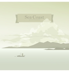 Sailboat in the Bay vector image