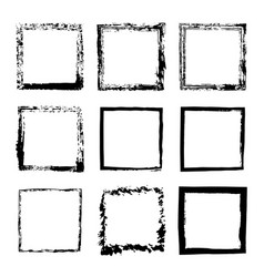Set of square frames drawn 1 vector