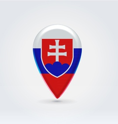 Slovakian icon point for map vector image