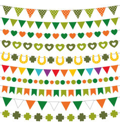St patricks day decoration set vector