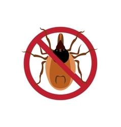 Symbol parasite warning sign Mite spider Mite vector image
