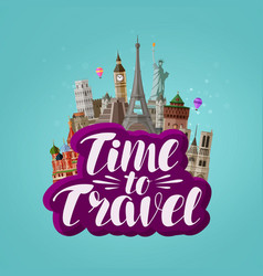 time to travel banner journey traveling around vector image