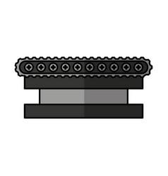 Transporter band machine icon vector