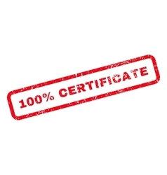 100 Percent Certificate Text Rubber Stamp vector image vector image