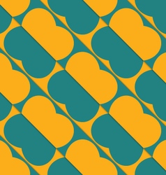 Retro 3D green and orange diagonal butterflies vector image