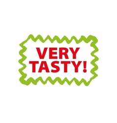 logo with the inscription very tasty vector image