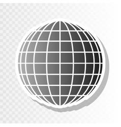 earth globe sign  new year blackish icon vector image