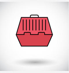 Pet carrier icon vector