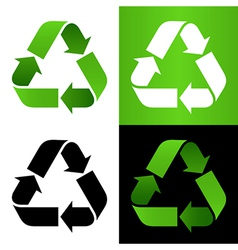 Set of recycle sign vector image