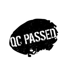 Qc passed rubber stamp vector