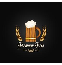 Beer mug vintage design background vector