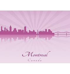 Montreal skyline in purple radiant orchid vector