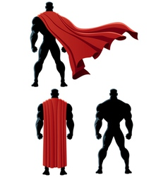 Superhero Back Isolated vector image