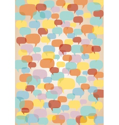 Speech bubbles background vector