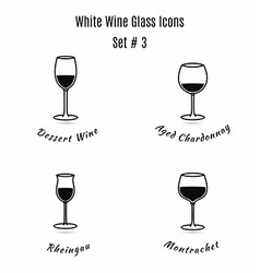 Set of icons variation of detailed hand drawn wine vector