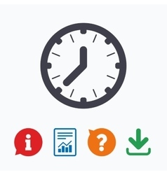 Clock time sign icon mechanical watch symbol vector