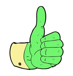 Comic cartoon thumbs up symbol vector