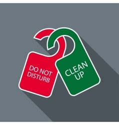 Do not disturb and clean up door hangers icon vector