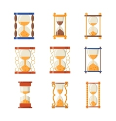 Sand clocks set collection vector