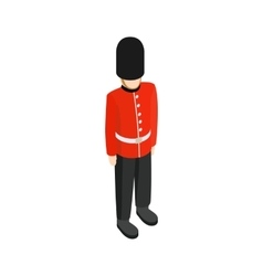 A royal guard icon isometric 3d style vector