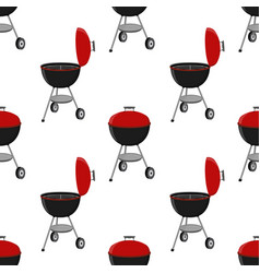 Barbecue set - grill station seamless pattern vector