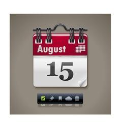 calendar xxl icon vector image