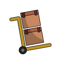 Cart box packing icon vector