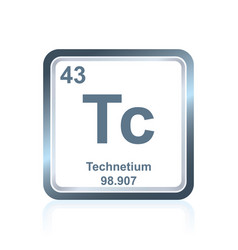 Chemical element technetium from periodic table vector
