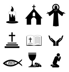 Christian faith icons vector