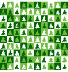 Christmas tree pattern green vector