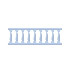 Classic Marble Balcony Fence Design Element vector image