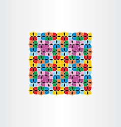 colorful seamless pattern decorative square vector image