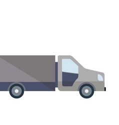 Commercial lorry truck loading isolated icon vector